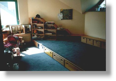 innenausbau privat wohnzimmer kinderzimmer. Black Bedroom Furniture Sets. Home Design Ideas